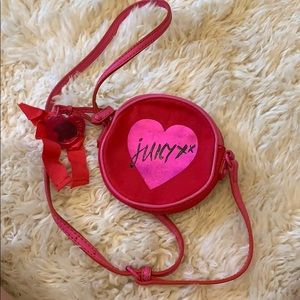 Small Juicy Couture pink crossbody bag